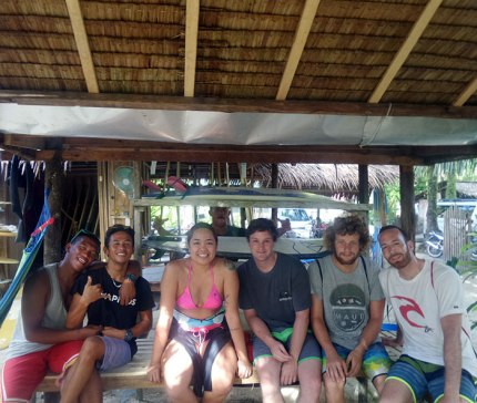 Rico, Loloy, and Tikmoy (that dude at the back hehe) with some tourists from Switzerland also staying at the resort
