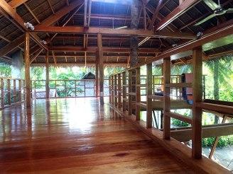 The yoga area