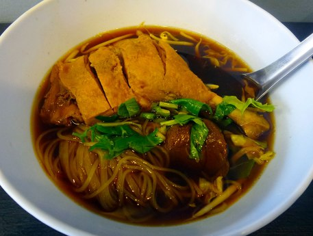 Duck drumstick with noodles