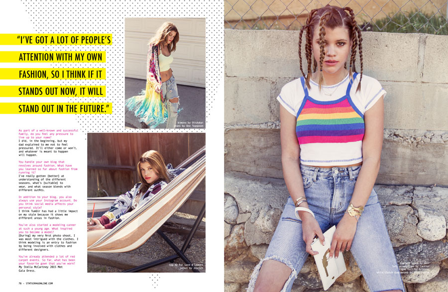 Sofia Richie x STATUS