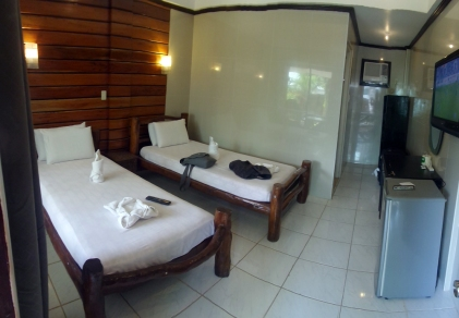 Our not too shabby room for 6 days at the Dumaluan Beach Resort
