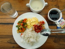 Breakfast before checking out Bohol