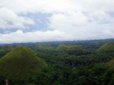 The infamous chocolate hills. The 215 flight of stairs was worth it seeing these hills that I've only heard about and saw pictures in school