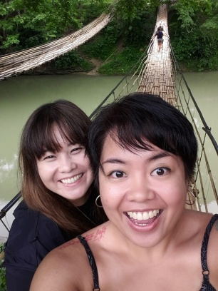 With Peggy at the Sipatan Hanging Bridge