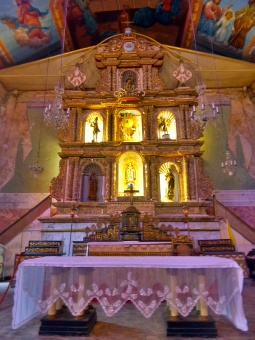 Baclayon church. Part of it is still being renovated due to the earthquake that devastated Bohol