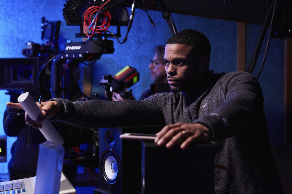 Director Benny Boom on the set of ALL EYEZ ON ME.  Photo: Quantrell Colbert